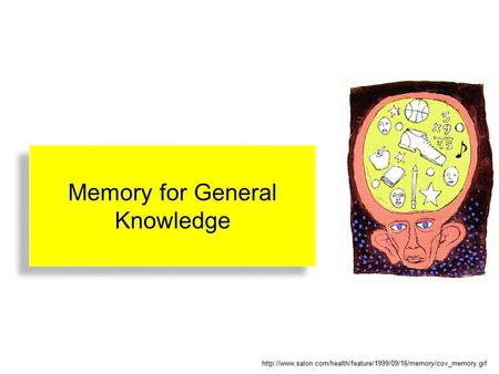 Memory for General Knowledge