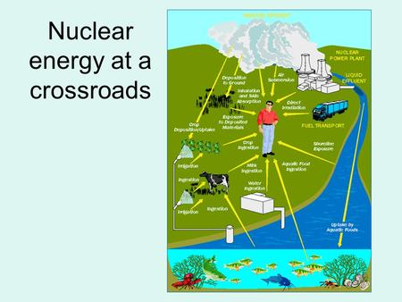 Nuclear energy at a crossroads. Benefits Reactors generate electricity without adding to global warming/air pollution. Small amt. of U gives off large.