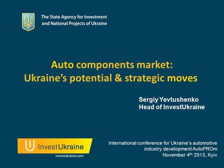 Auto components market: Ukraine's potential & strategic moves