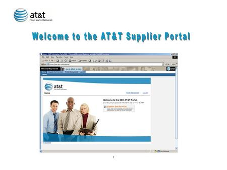 1. 2 Overview of AT&T EPIC Ordering Process for SUS (Supply Order) Suppliers 1.AT&T User creates shopping cart on internal web-based portal 2.Shopping.