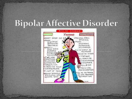 an introduction to the bipolar disorder one of the most tragic mood disorders Bipolar disorder essay examples top thesis bipolar disorder bipolar disorder is perhaps one of the most tragic mood disorders an introduction to the bipolar.