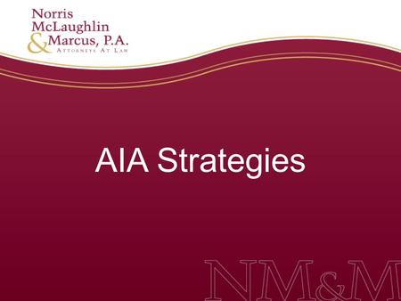 AIA Strategies.