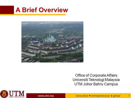 A Brief Overview Office of Corporate Affairs