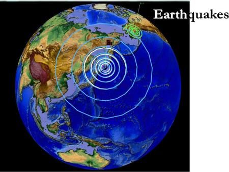Earthquakes. (1) What causes earthquakes? It's plate movement Movement in the crust causes stress– energy that slowly changes the shape of rock Earthquake–