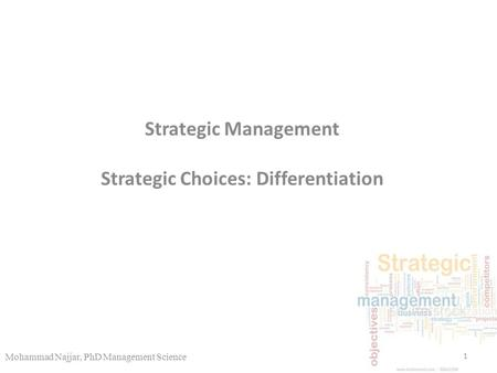 strategic management and production differentiation efforts 1) wal-mart exemplifies a firm pursuing a product differentiation strategy while   of potential product differentiation product differentiation efforts often focus on.