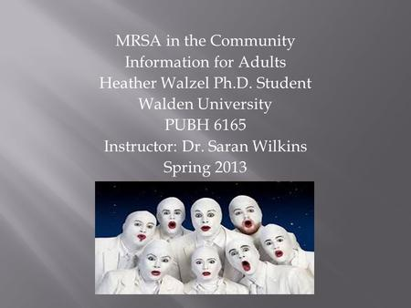 mrsa care in the community why