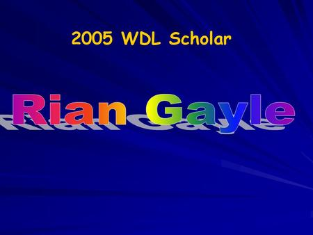2005 WDL Scholar. Development of a Jamaican Deaf Advocacy Organization Rian Gayle Business Administration Progress Report for WDL Project.