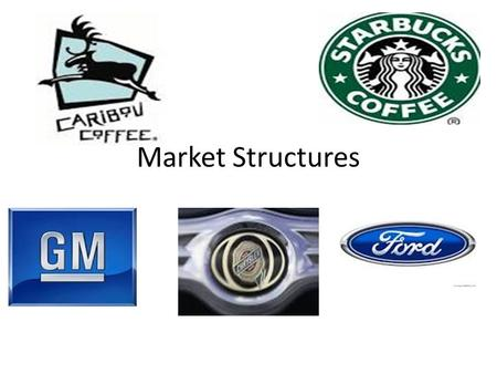 Market Structures. Perfect Competition Perfect competition is also called pure competition, few examples of perfect competition exist today. Examples.