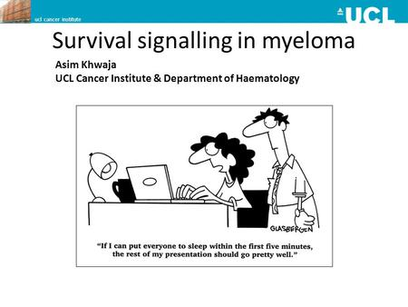 Survival signalling in myeloma