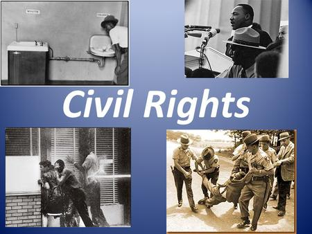 "Civil Rights. Legislation & Protests Brown v. BOE -ended ""separate but equal"" doctrine Civil Rights Act of 1964 -banned discrimination in public places."