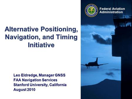 Alternative Positioning, Navigation, and Timing Initiative