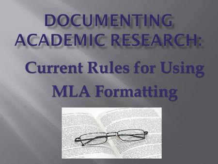 mla documentation style for research papers
