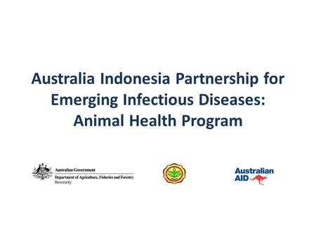 Australia Indonesia Partnership for Emerging Infectious Diseases: Animal Health Program.