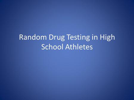 an analysis of the frequent drug testing for athletes As olympians call for tougher penalties for those caught taking banned substances, find out what drugs athletes take to improve performance and how they work.
