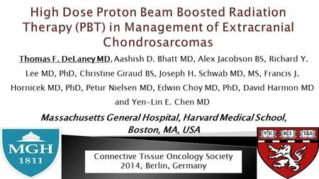 Thomas F. DeLaney MD, Aashish D. Bhatt MD, Alex Jacobson BS, Richard Y. Lee MD, PhD, Christine Giraud BS, Joseph H. Schwab MD, MS, Francis J. Hornicek.