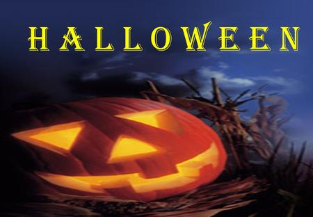 H a l l o w e e n. H alloween is a festival that takes place on O ctober 31. I n the United States children wear costumes and masks and go trick-or-treating.