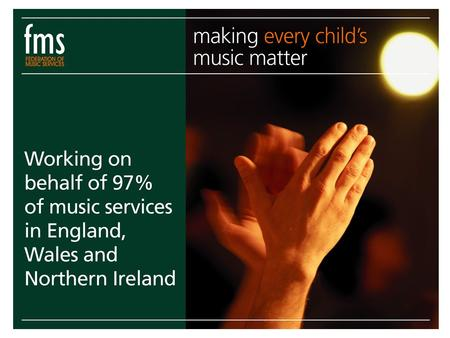 Music Education in England A legal requirement for all pupils from 5 to 14 BUT much music making takes place out of school.