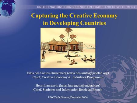 Capturing the Creative Economy in Developing Countries