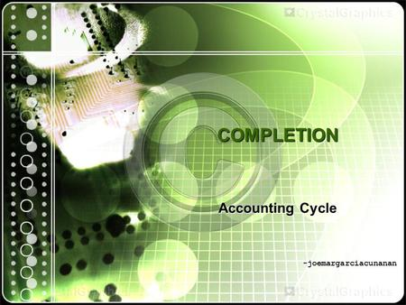 COMPLETION Accounting Cycle -joemargarciacunanan.