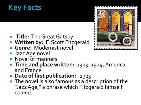 the mistakes of the past in the great gatsby a novel by f scott fitzgerald F scott fitzgerald:  f scott fitzgerald: a novelist who was catholic, but not a  one study estimated that the great gatsby had been bought by 25 million.