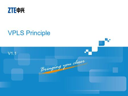 V1.1 VPLS Principle. Objectives Understand the basics of mpls layer 2 VPN Understand VPLS principle.