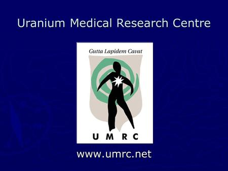 Uranium Medical Research Centre www.umrc.net. The Analysis of Uranium Isotopes Abundance and Ratios in the Civilian Population of Eastern Afghanistan.