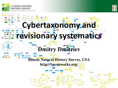 Cybertaxonomy and revisionary systematics Dmitry Dmitriev Illinois Natural History Survey, USA