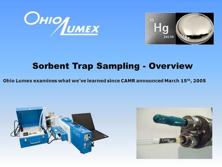 Sorbent Trap Sampling - Overview