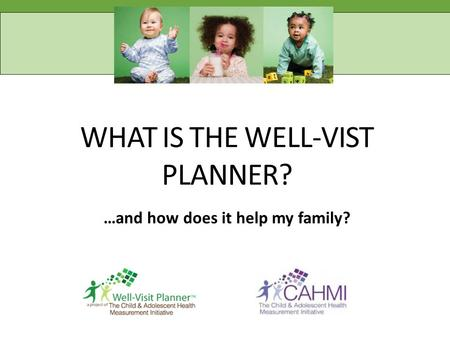 WHAT IS THE WELL-VIST PLANNER? …and how does it help my family?