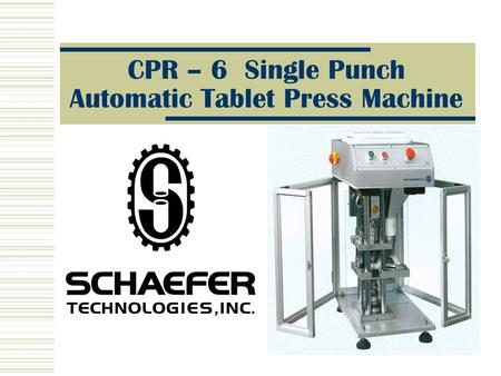 CPR – 6 Single Punch Automatic Tablet Press Machine.