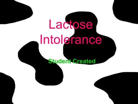 Lactose Intolerance Student Created. Definition The inability to digest and absorb lactose (the sugar in milk) that results in gastrointestinal symptoms.