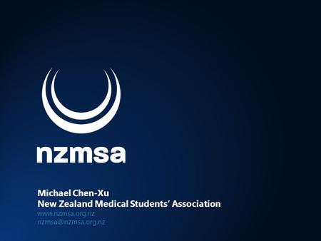 Michael Chen-Xu New Zealand Medical Students' Association