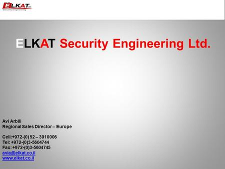 ELKAT Security Engineering Ltd.
