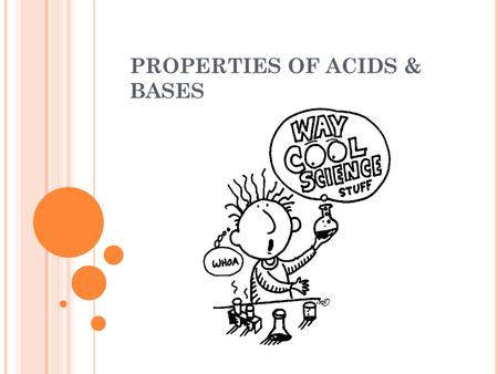 PROPERTIES OF ACIDS & BASES. WEEK OUTLINE: Monday: Properties of Acids & Bases Tuesday: Acid Precipitation Wednesday: Properties of Acids & Bases Lab.