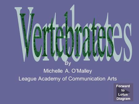 By Michelle A. O'Malley League Academy of Communication Arts
