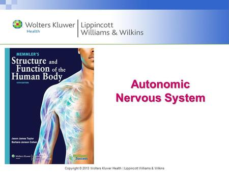 Copyright © 2013 Wolters Kluwer Health | Lippincott Williams & Wilkins Autonomic Nervous System.
