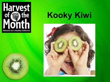 Kooky Kiwi. Put your thinking cap on! There will be questions to answer at the end.