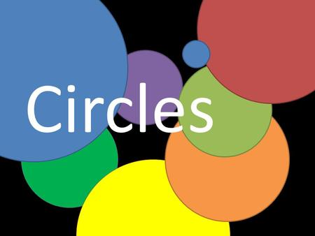 Circles. A circle is the set of all points in a plane that are at a given distance from a center. What is it?