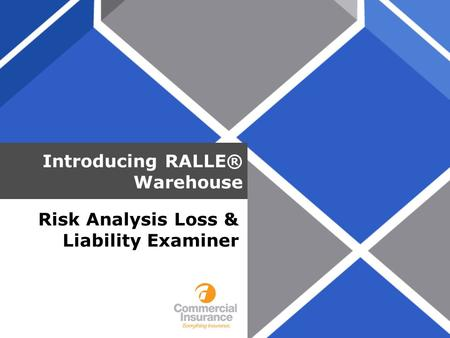 Introducing RALLE® Warehouse Risk Analysis Loss & Liability Examiner.