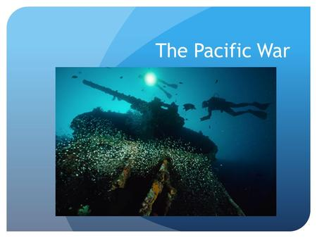 The Pacific War. Brainstorm Build Up to War 1937- Japan attacks China United States issues sanctions o Stopped selling Iron Ore, Steel and Oil to Japan.