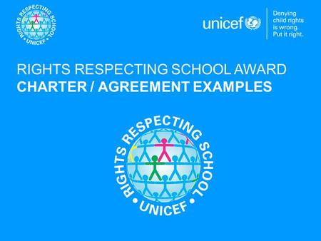 RIGHTS RESPECTING SCHOOL AWARD CHARTER / AGREEMENT EXAMPLES.