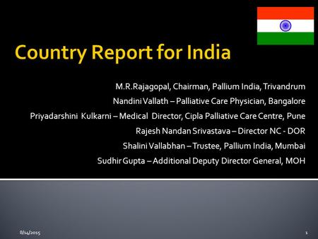 Country Report for India