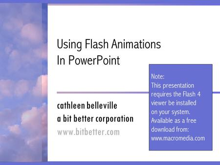 Using Flash Animations In PowerPoint