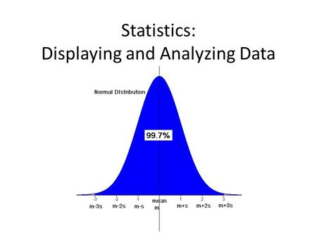 "Statistics: Displaying and Analyzing Data. Line Plot Frequency: the number of times something occurs. Use an ""x"" to show the number of times each data."