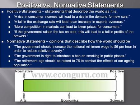 Positive vs. Normative Statements