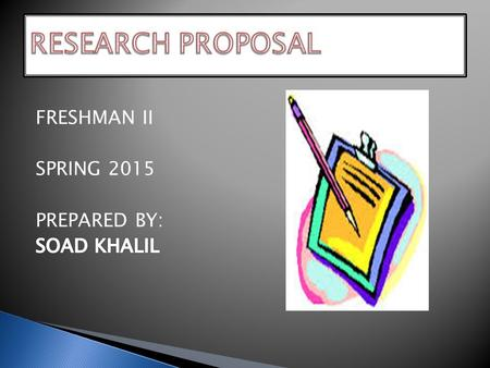 A research proposal is a document written by a researcher that provides a detailed description of the proposed program. It is like an outline of the entire.