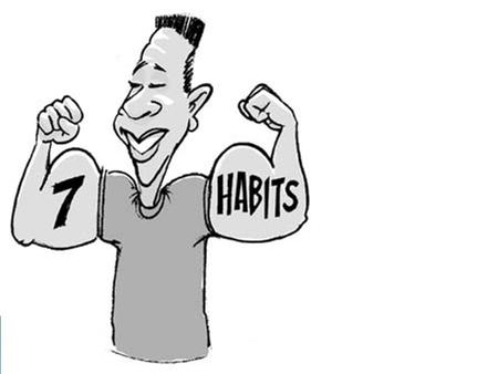 What is a Habit?  Habits are patterns of behaviour composed of 3 overlapping components: -Knowledge -Desire -Skill Knowledge DesireSkills.