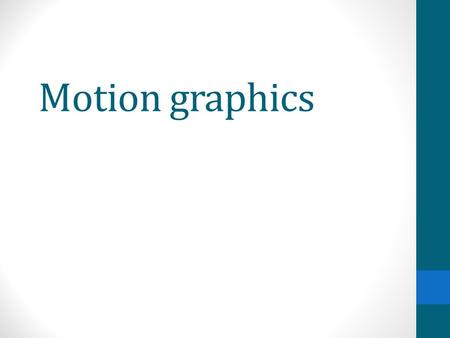 Motion graphics. Film title sequence Film title sequence is a way of presenting a film title or television programs which includes the cast members, producer,