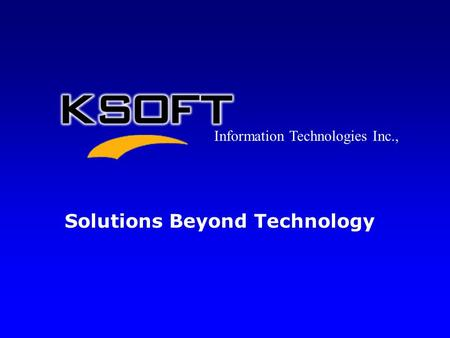 Solutions Beyond Technology Information Technologies Inc.,
