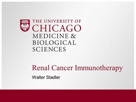 Renal Cancer Immunotherapy Walter Stadler. 2 Renal cancer natural history.